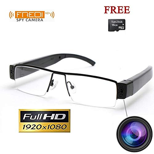 FREDI HD PLUS HD 1080P Spy Camera Glasses, HD Digital Video Glasses, Security & Surveillance Cameras, Hidden Cameras