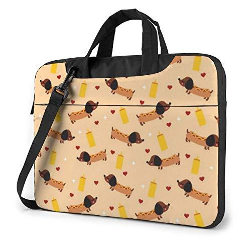 Schoudertas voor laptop Weiner Dog laptoptas 15,6 inch laptoptas tas tas met schouderriem