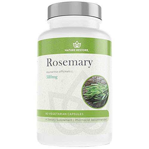 Rosemary Extract Supplement, Standardized to 20 Percent Carnosic Acid, 90 Capsules, Manufactured in USA, Non GMO, Gluten Free