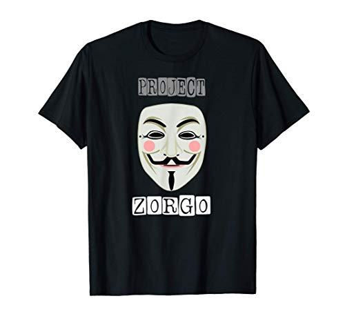 Project Zorgo Anonymous Mask Hacker T-Shirt