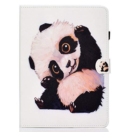 Succtop Funda para Galaxy Tab A7 10.4 Pulgadas 2020, Folio Flip Carcasa Cuero PU Titular de la Pluma Standing Billetera Cover Protectora Tablet Samsung Galaxy Tab A7 T500/T505/T507, Panda