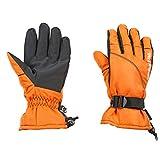 キャプテンスタッグ(CAPTAIN STAG) グローブ 手袋 防水 防寒 3D 立体設計 メンズ Mサイズ オレンジ×ブラック UX-976