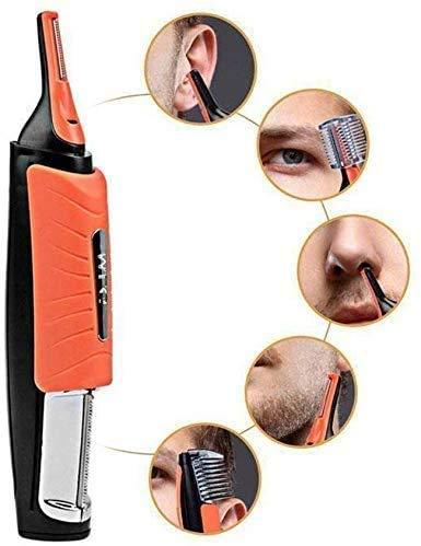 RCHL Haarschneider Rasierer Mann 2 In 1 Nase, Ohr, Augenbrauen, Sideburns Haarschneider Entferner Mit LED-Licht