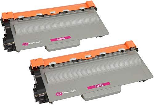 2 Tóners compatibles con Brother TN3380 DCP-8110DN DCP-8250DN HL-5440D HL-5450D HL-5450DN HL-5450DNT HL-5470DW HL-5480DW HL-6180DW HL-6180DWT MFC-8510DN MFC-8520DN MFC-8950DW | 8000 páginas