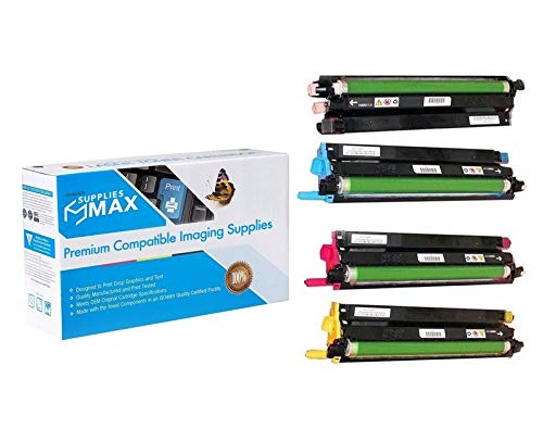 SuppliesMAX Compatible Replacement for Xerox Phaser 6600/WC-6605/VL-C400/405 Drum Unit Combo Pack (BK/C/M/Y) (60000 Page Yield) (108R01121) -  SPB-XER108R01121-C