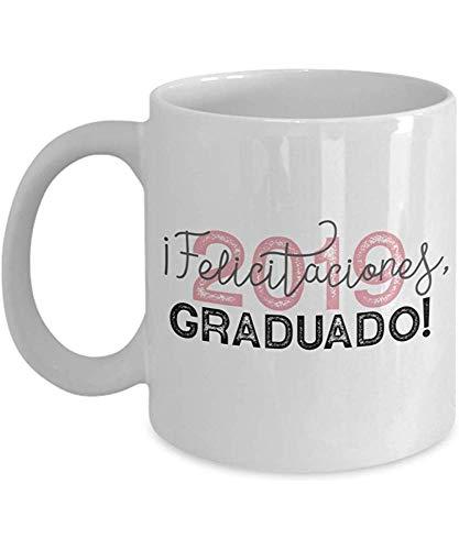 Keramische beker, Felicitaciones, Graduado! 2019 Spaanse graduatie koffiemok