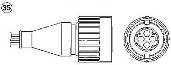 Lambdasonde Lamdasonde original NGK 93790 Länge: 910mm