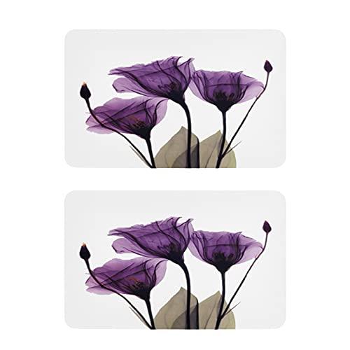 Hunihuni - Imán para nevera, diseño de flores moradas, 2 unidades