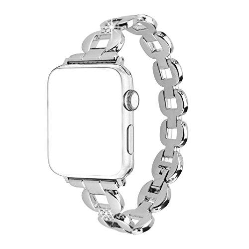 Bracelet Apple Watch 38mm, Bracelet Watch Serie 3 Rosa Schleife®Bracelet iWatch Femme fantaisie Watch Series 2/1 Remplacement de Bracelet de Sport Band Strap Wristband Tracker d'activité Accessoires