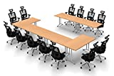 Team WORK Tables Conference Meeting, Seminar, Training, Assembled Commercial Grade Folding...