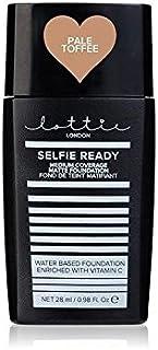 ロンドン自分撮り準備 - メディア報道マットの基盤淡いタフィー x4 - Lottie London Selfie Ready - Medium Coverage Matte Foundation Pale Toffee (Pack of 4) [並行輸入品]