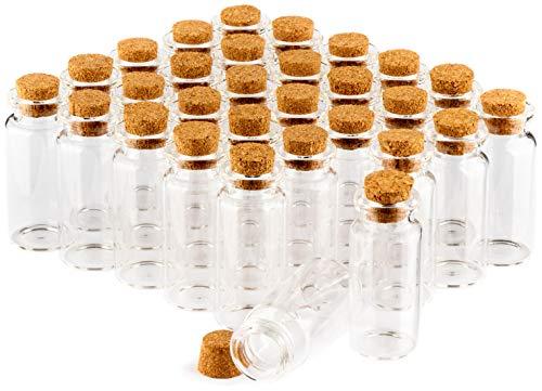 com-four® 30x Gewürzgläser-Set mit Korken, Mini Glasfläschchen, Bonbon Gläser Set, Aufbewahrung von Ölen, Gewürzen, Kräutern oder Tee ca. 10 ml (030 Stück)