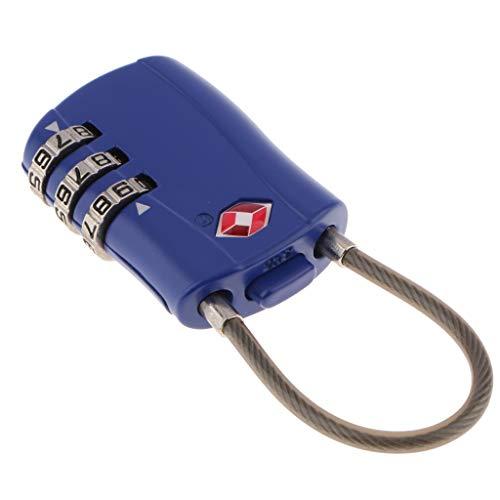 F Fityle TSA Resettable 3 Digit Combination Travel Luggage Suitcase Bag Code Lock Padlock TSA002 - Blue