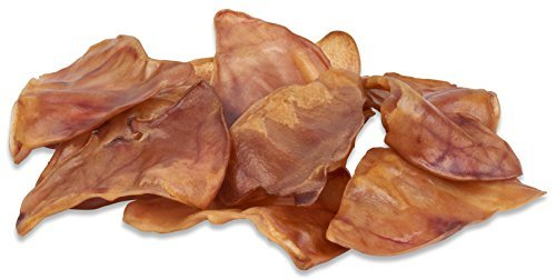 100% Natural Whole Pig Ear Dog Treat, Brutus & Barnaby's Healthy, Pure Pork Ear is Easily Digestible with no Added Colorings, Chemicals or Hormones (12 Count)