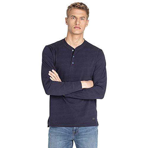 Lee Henley T-Shirt, Blu (Midnight Navy Ma), Medium Uomo