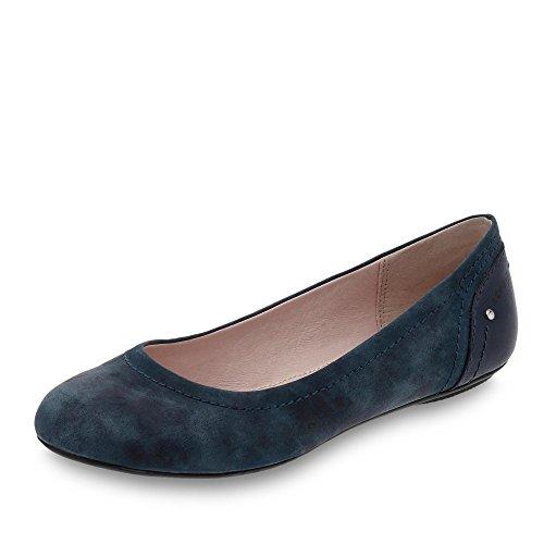 ESPRIT 038EK1W001-400 Aloa Damen Ballerina Textilfutter mit Flexibler Laufsohle, Groesse 38, blau