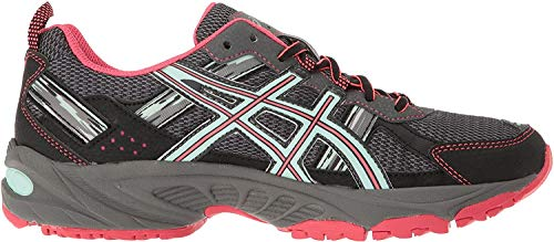 ASICS Women's Gel-Venture 5 Trail Runner, Carbon/Diva Pink/Bay, 10 M US