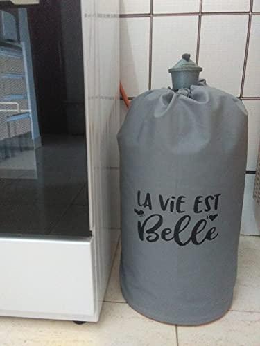 Funda para bombona de butano La Vie Est Belle en gris