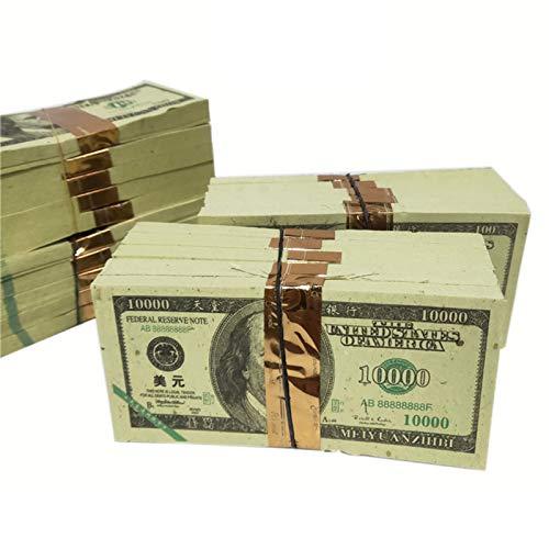 Hell Banknoten Vorfahren Geld Chinese Joss Paper Money Hölle Banknote US $ 10000 Opfer Vorfahr Brennendes Papier Segen Mit Einem Statue The Sakrificial Offerings