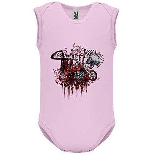 LookMyKase Body bébé - Manche sans - Three Wheels - Bébé Fille - Rose - 9MOIS
