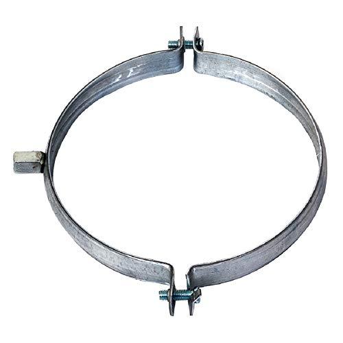 Abrazadera de tubo de 125 mm de diámetro, soporte para tubo de ventilación y canalón, 1 unidad