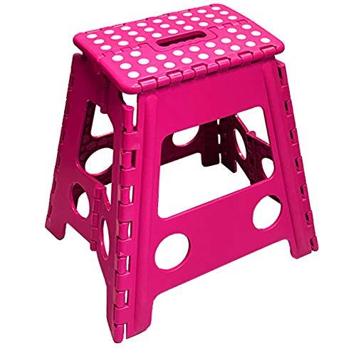 Acan Taburete Plegable PVC Infantil Multiuso MAX 150 kg (Rosa Oscuro, 29...