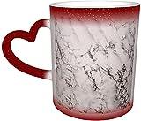 Tazza da caffè in marmo bianco magica sensibile al calore cambia colore tazza in The Sky caffè tazze regalo personalizzato per gli amanti della famiglia amici