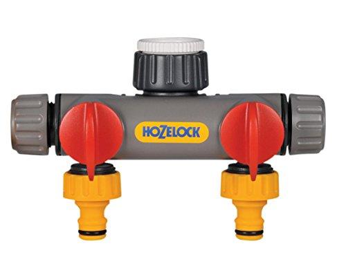 Hozelock Conector Dos vías 2252 0000-Conector, Amarillo, 0.80x21.0x19.5 cm