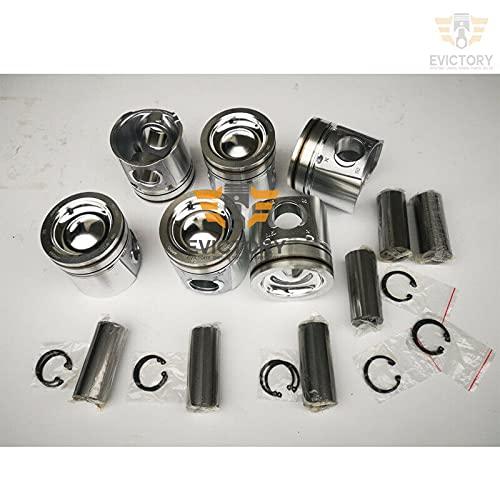 Para SAA6D107 reacondicionamiento kit de reconstrucción anillo pistón junta cojinete con válvula de varilla