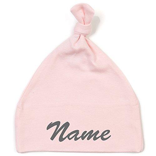 Schnoschi Babymütze in rosa mit Namen hochwertig Bestickt/gestickt