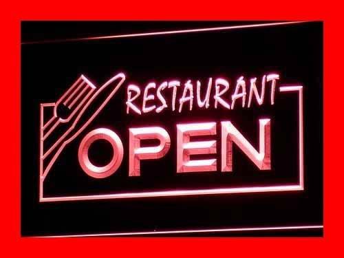 ADV PRO Enseigne Lumineuse i141-r Open Restaurant Display Bar Pub Neon Light Signs