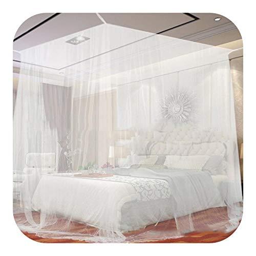 Red De Dosel Para Cama, Red De Cuatro Esquinas Para Acampar Al Aire Libre Blanca Para Mosquitos Con Bolsa De Almacenamiento Protección De Tienda De Insectos Red Completa De Dormitorio 200 * 200 *