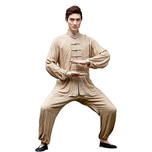 Kung Fu pak Kung voor yoga Tai chi-pak vechtsport Tai Chi uniform - twee stukken Traditioneel hennefu dangpak vechtkunst kleding unisex volwassenen Small