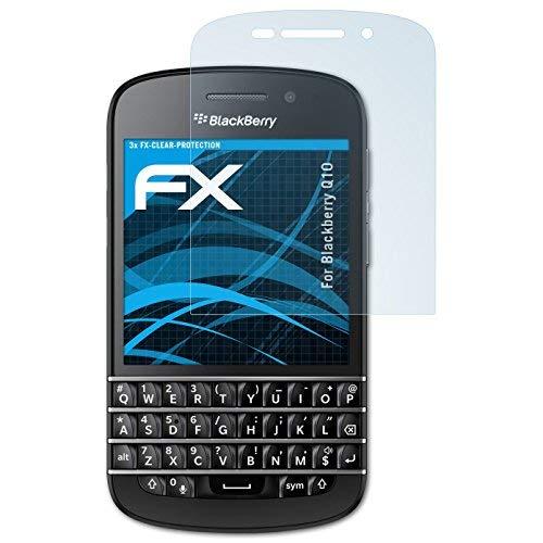 atFolix Schutzfolie kompatibel mit BlackBerry Q10 Folie, ultraklare FX Bildschirmschutzfolie (3X)