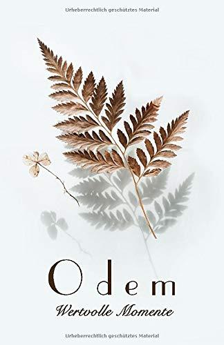 Odem, wertvolle Momente : 40 Tage Bibelstudium Notizbuch: Ein Tagebuch um Ihre Gedanken, Offenbarungen und Gebete festzuhalten während Ihrer Stillenzeit.