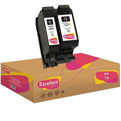 Excellent Print 45 78 Compatible Cartuchos de Tinta para HP Color Copier 6127 Photosmart 1215 1100 1315