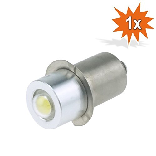 Do!LED P13.5s LED Cree zaklamp lamp wit peer 0,85 Watt 4-8 Volt, wisselstroom en gelijkstroom AC/DC
