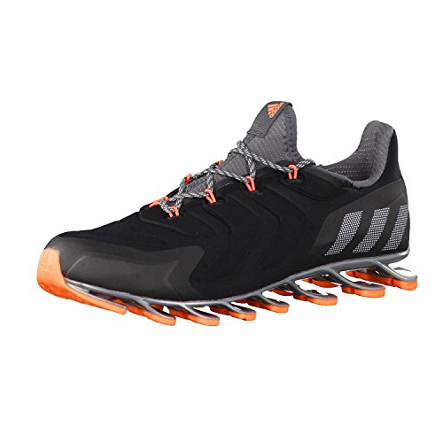 adidas Springblade Nanaya Core - Zapatillas de correr para mujer, color negro, granito y naranja