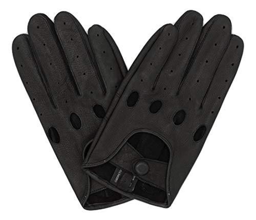 Premium Auto-Handschuhe aus 100% Hirschleder/ungefütterte Autofahrerhandschuhe Hirschleder/ungefütterte Lederhandschuhe/Motorrad Handschuhe