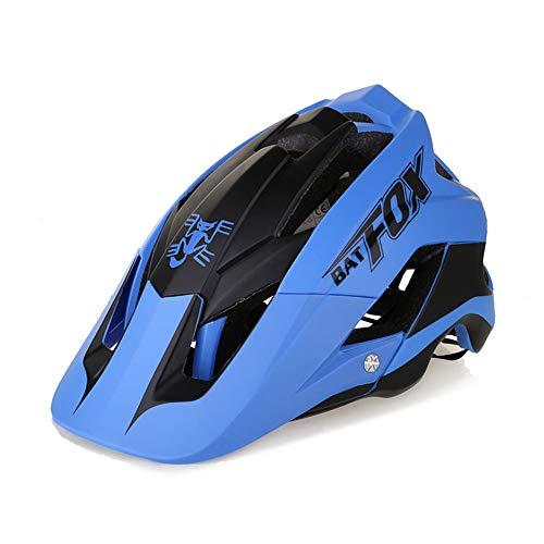 FeMereina Unisex Casco para Bicicleta MTB, Bicicleta de Montaña Visera Desmontable + Casco Gratis (Verde Oscuro, 55-62 cm)
