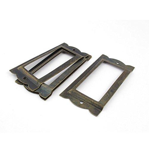 sourcingmap Étiquettes pour dossiers tiroir Support 85 mm x 42 mm (Ton Bronze Lot de 4