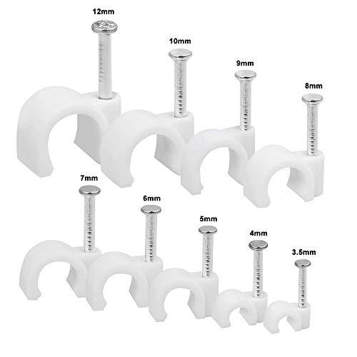 Kabelschellen Nagelschellen Express-Schelle Kabelhalter mit Nagel 25 Stück 5mm