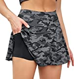 VUTRU Faldas de Tenis Cintura Alta Faldas Pantalón Skorts de Golf para Mujer Mini Faldas Deportiva Plisadas para Correr Gimnasio Fitness con Pantalones Cortos Interior Camuflaje M