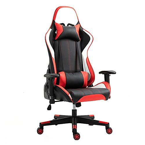 Sedia Da Gioco Girevole Ergonomica Gaming,Regolabile In Altezza Sedia Da Gioco,Con Supporto Poggiatesta E Lombare Sedia Da Gioco
