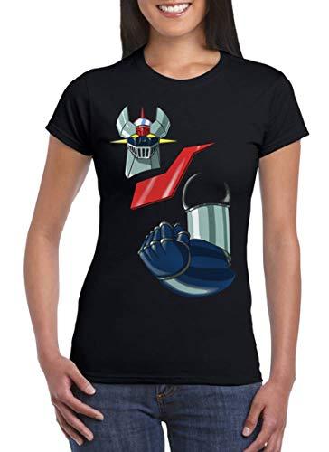 UZ Design Camiseta Mazinger Z Mujer Niño T Shirt Dibujos Animados Años 80 Robot, Mujer - M