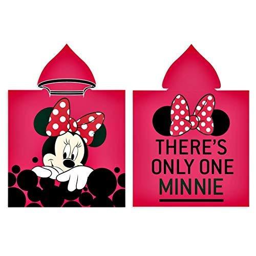 Disney Minnie Mouse Badeponcho Poncho Badetuch Bademantel Handtuch Badehandtuch 55x110 cm