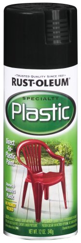 Rust-Oleum 211338 Paint for Plastic Spray, 12 oz, Black