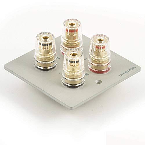 zalias Lyndahl Lautsprecherblende Multimediablende für Lautsprecher, passend für Unterputzdose/Wandeinbaudose Wandanschlussblenden Surround System Silber 2-Fach