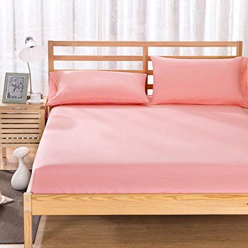 HPPSLT colchón Acolchado, antialérgico antiácaros, Funda Antideslizante para sábanas de Jade_135 * 200cm