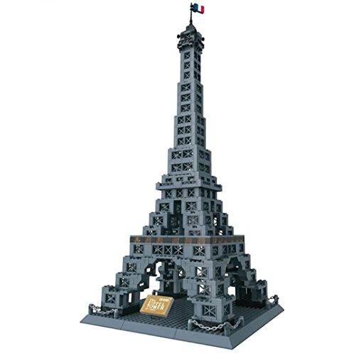 Eiffelturm – Tour Eiffel. Architektur Modell zum Bauen mit Bausteinen.